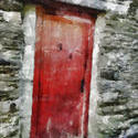 9046   red wooden door painting