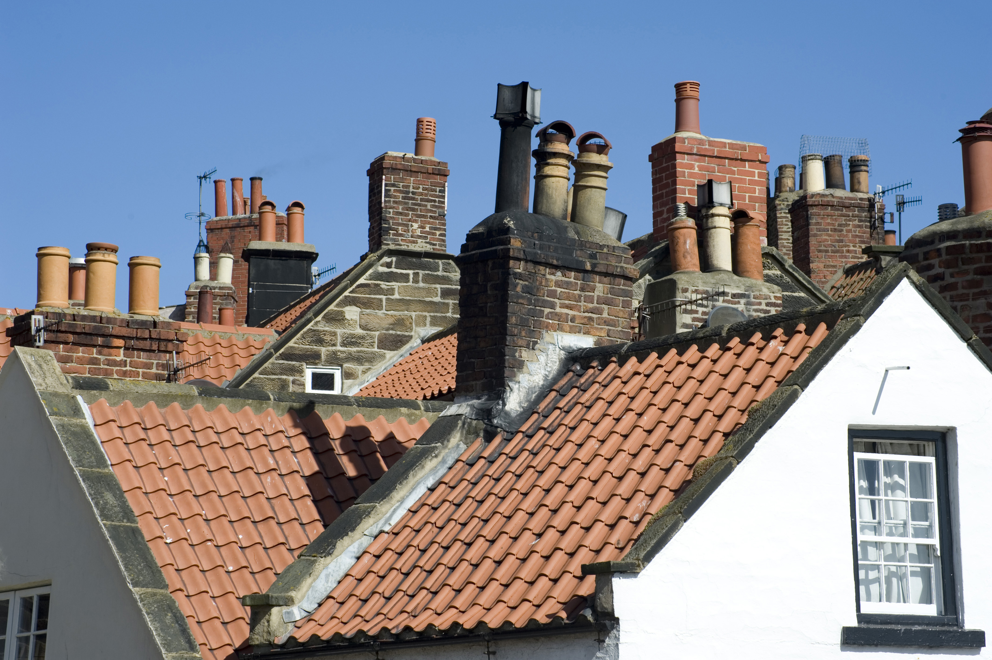 Free Stock Photo 7994 Rooftops And Chimney Pots