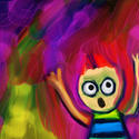 9484   scream cartoon painting