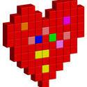 10877   shapes pixel heart