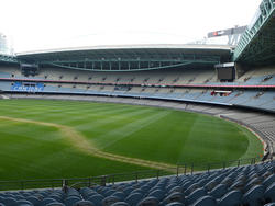 11000   Empty sports stadium for field events