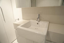 10666   Elegant Square Ceramic Sink in the Bathroom
