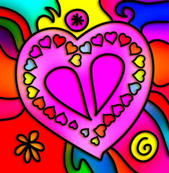 9826   stained glass heart design