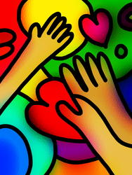 9633   stained glass love hands