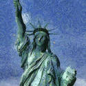 9047   statue of liberty painting