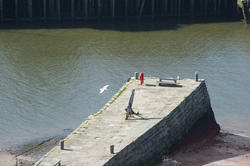 8023   Tate Hill Pier in Whitby harbour