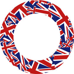 9363   union jack round border