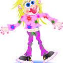 9492   wacky pink girl