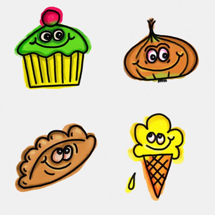11229   watercolour food doodles