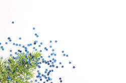 10572   Festive Christmas background with blue stars