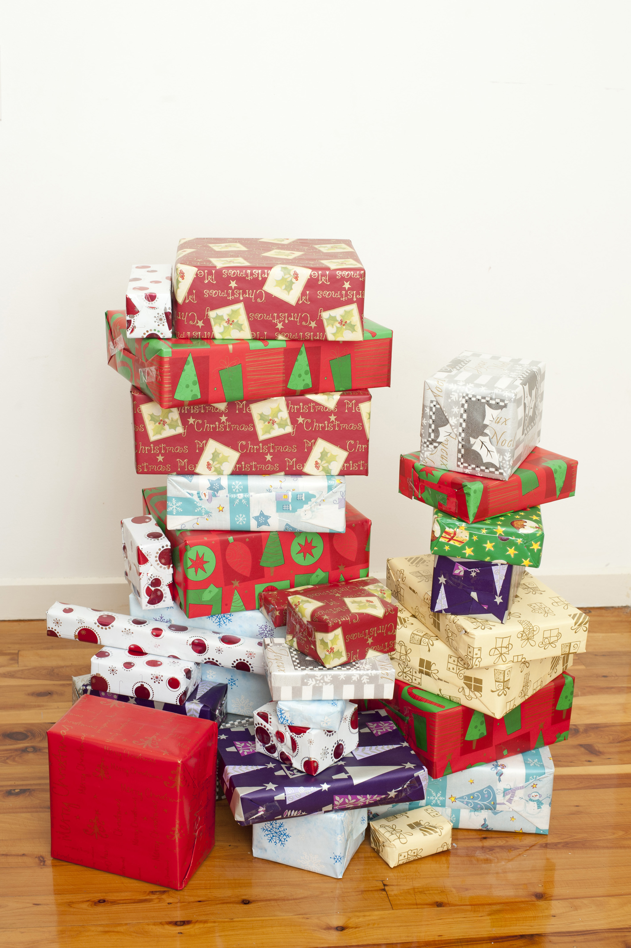 Free Stock Photo 8675 Pile of gift boxes wrapped in paper ...