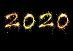 17209   New years 2020 sparkling sign