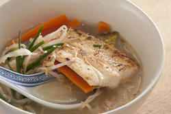 12351   Asian fish soup with veggies