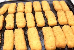 12740   Freshly baked breaded fish fingers