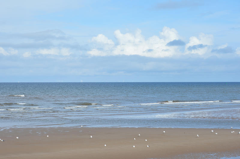 <p>A british beach near to Blackpool, Lancashire.</p>