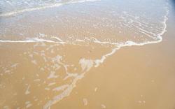 12663   wave on smooth sandy beach