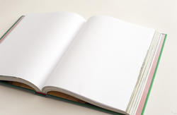 13085   Open blank book with copy space