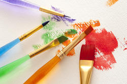 12145   Assorted colors and paintbrushes