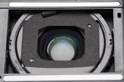 12151   Close up on compact camera lens