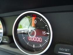 16344   Lap timer on a car dashboard