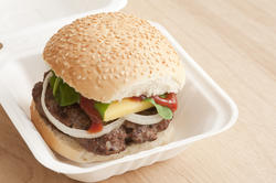 12746   Hamburger takeaway in a disposable container