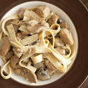 12288   Bowl of cooked ribbon pasta with chicken