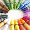 11961   Frame of colorful wax crayons