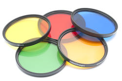 12156   Five isolated color contrast lenses
