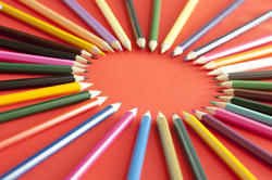 12157   Colored pencils forming a ring