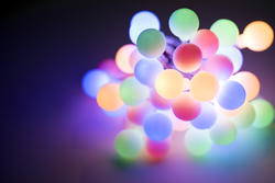 13122   Bundled group of glowing Christmas lights