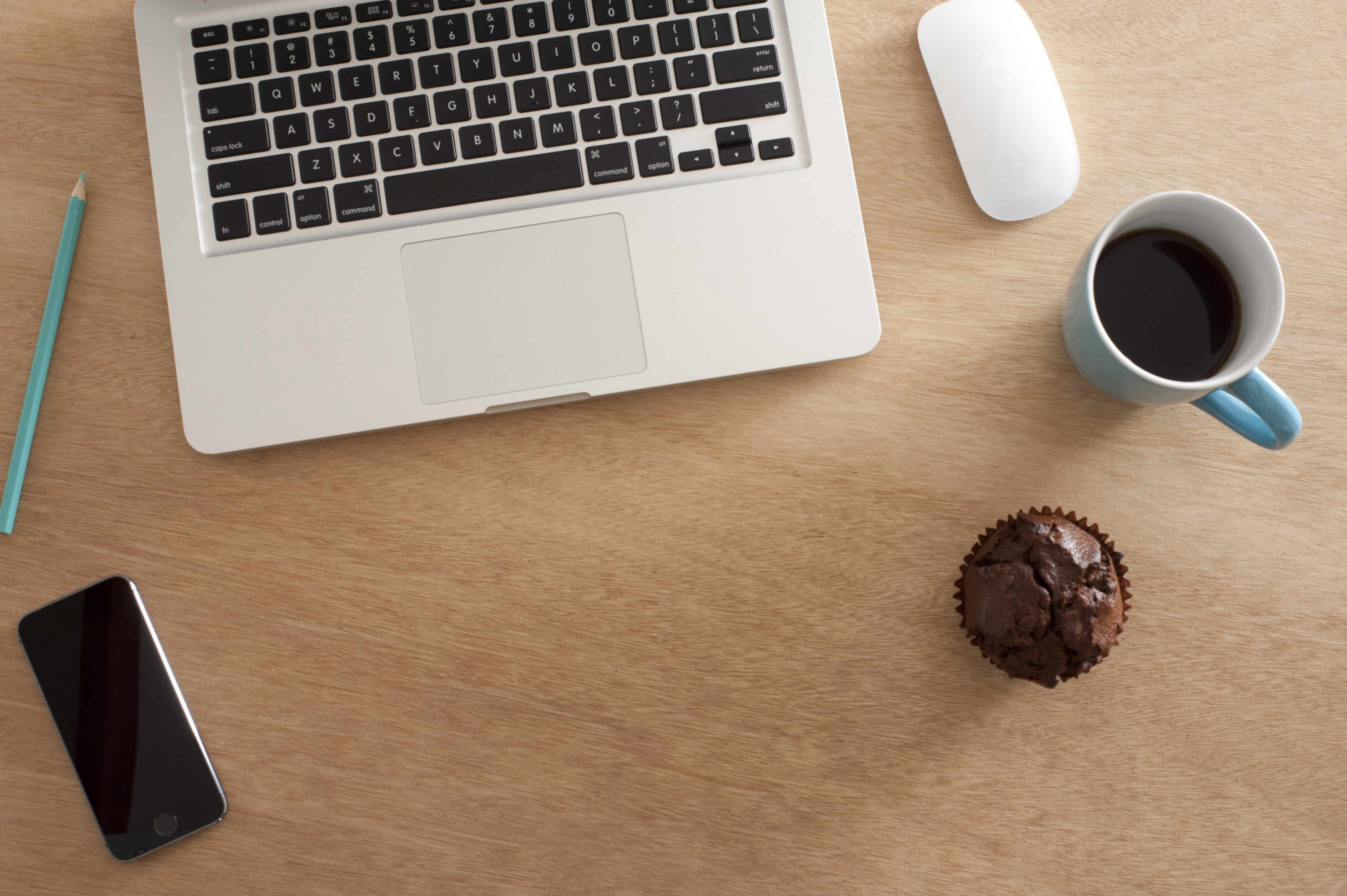 Free Stock Photo 12732 Office Desk Still Life Viewed From