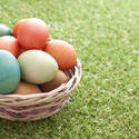 13454   Basket of traditional Easter Eggs