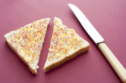 12755   fairybread cut in half with knife