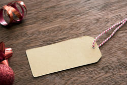 13151   Blank Christmas gift tag and decorations