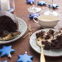 13123   Serving of homemade fruity Christmas pudding