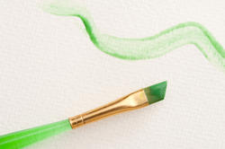 12172   Squiggly green line with paint brush
