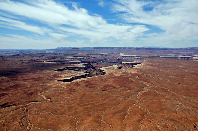 <p>The Green River and gorges as seen from the Island in the Sky at Canyonlands National Park.</p>