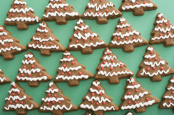 13156   Iced gingerbread cookie background pattern