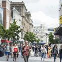 12833   Street scene in Liverpool, UK