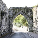 12790   Old archway over narrow street in St Andrews