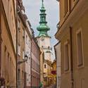 13119   narrow crooked bystreet in bratislava