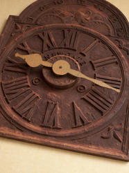 12970   Old rusty clock with roman numerals