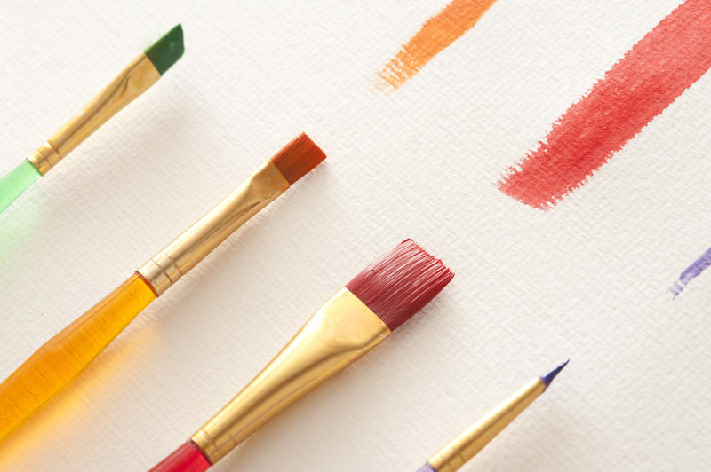 12178   Straight paint strokes with brushes on canvas