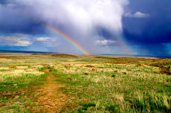 16109   Pawnee Buttes Evening Rainbow