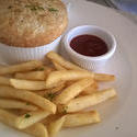 12302   French fries served with a pie