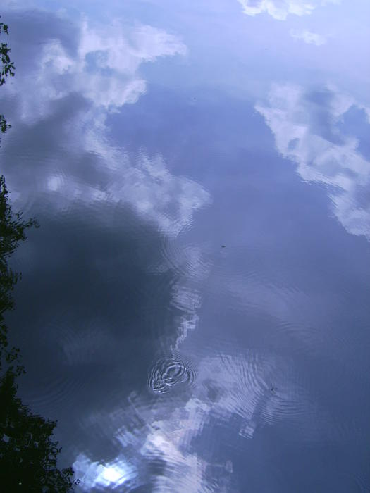 <p>water pond shadow cloud</p>