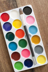 12189   Poster paint set with brush