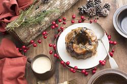 17171   Tasty homemade Christmas plum pudding