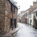 12861   Narrow curved street in Cellardyke, Scotland