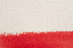 12130   Thick red paintstroke on paper